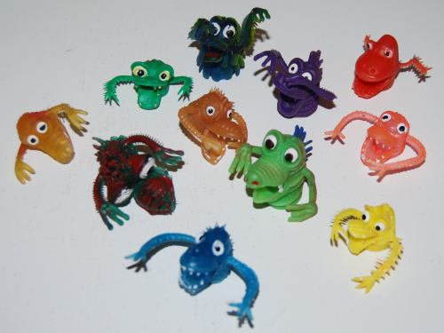 Finger puppet monsters