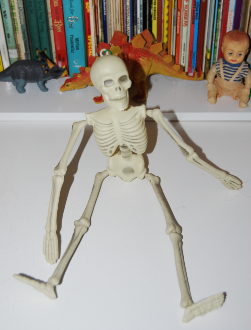 Vintage halloween skeleton