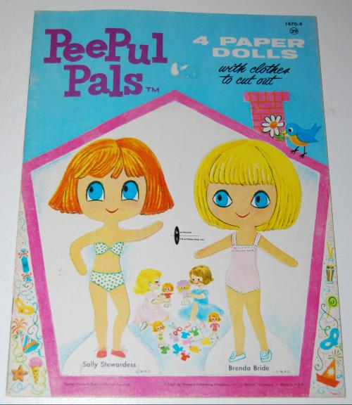 Peepul pals 1967 paperdolls