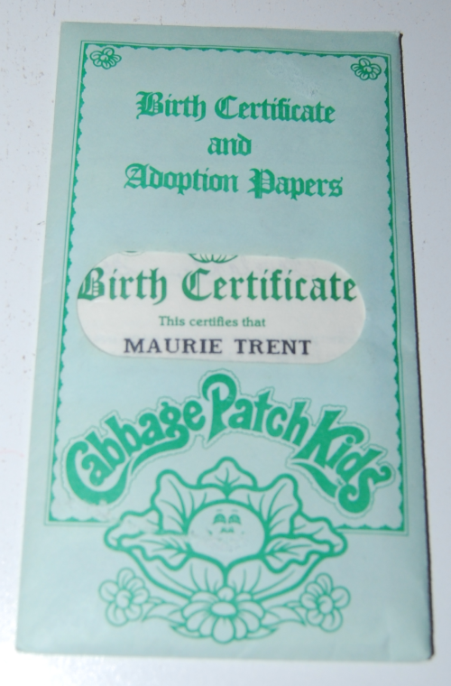 Cabbage patch doll adoption papers