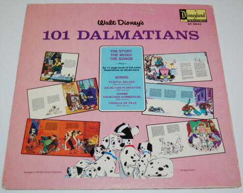 Disney 101 dalmatians vinyl x
