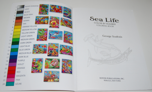 Sea life color by number book 1