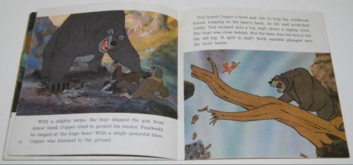 Disney book & cassette fox & the hound 5