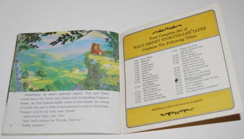 Disney book & cassette fox & the hound 6