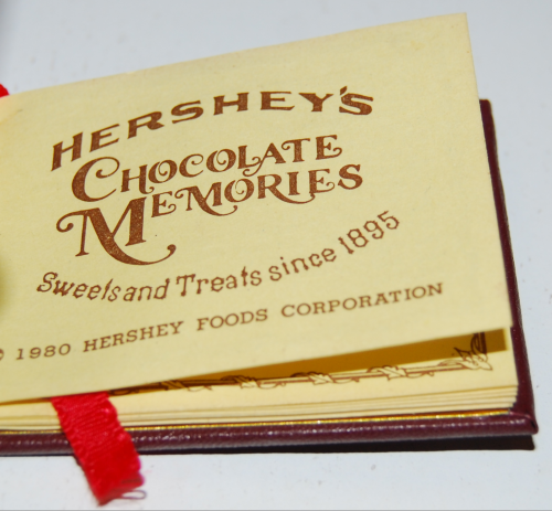 Hershey's chocolate memories recipe book x