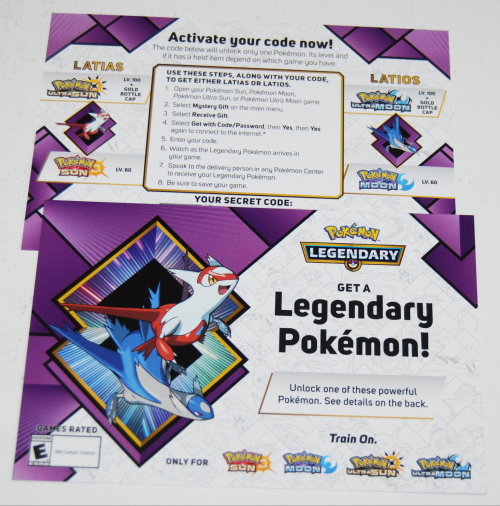 Legendary pokemon offer
