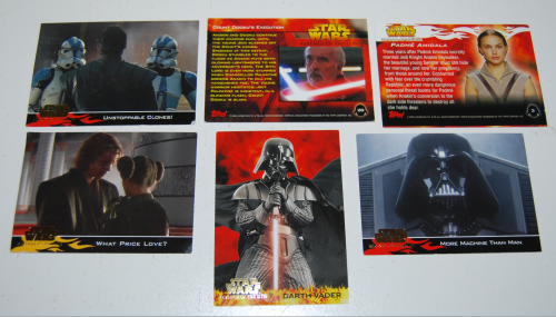 Star wars collector cards topps