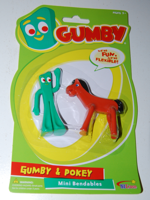 Gumby & pokey bittys on card