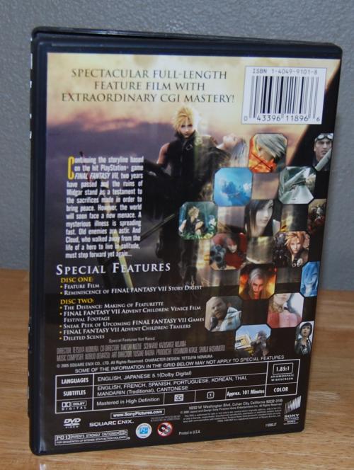 Final fantasy advent children dvds