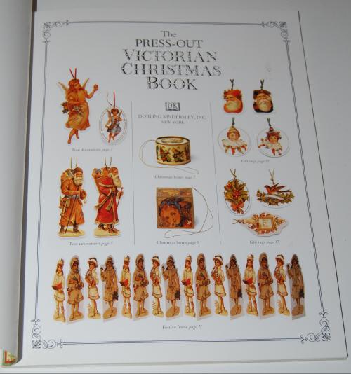 Victorian christmas pressout book 1