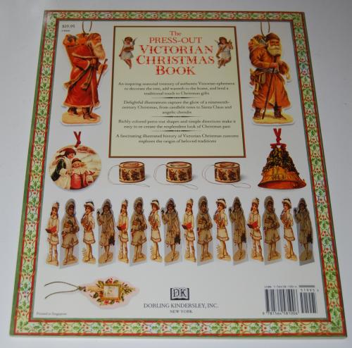 Victorian christmas pressout book x