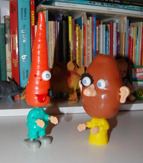 Katie the carrot & mr potatohead 3