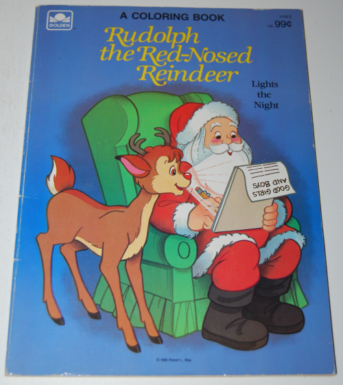 Rudolph the red nosed reindeer coloring book x
