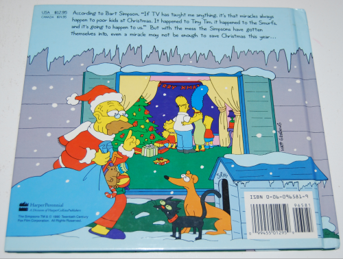 Simpsons xmas book x