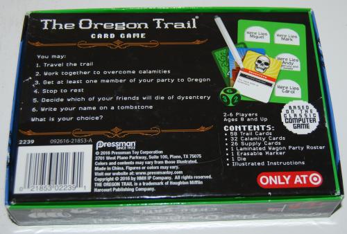The oregon trail card game x