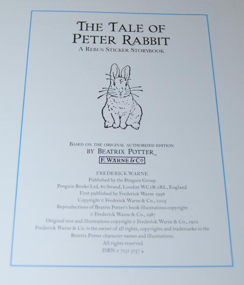 Beatrix potter book 1