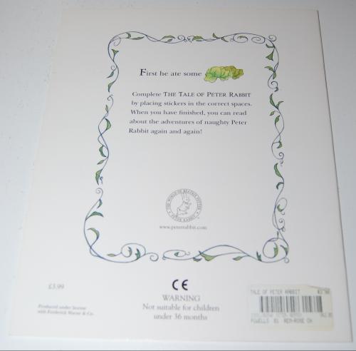 Beatrix potter book x
