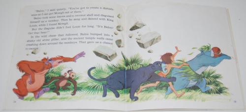 Disney book & cassette jungle book 4