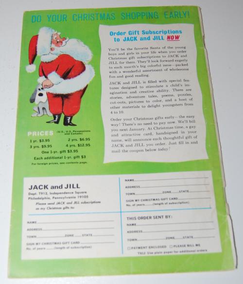 Jack & jill magazine october 1963 x