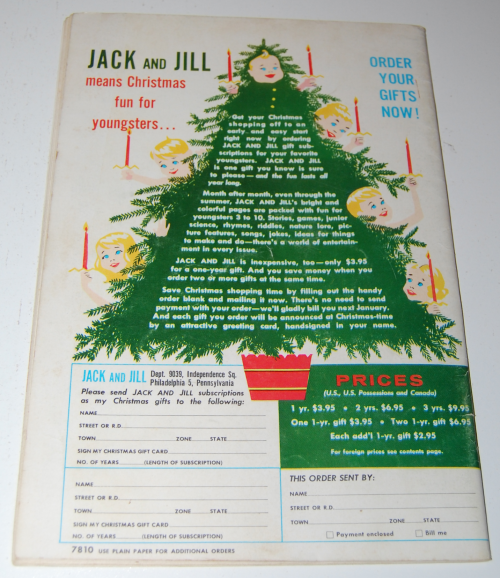 Jack & jill magazine october 1960 x