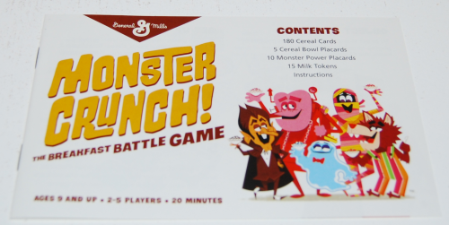 Monster crunch game instructions