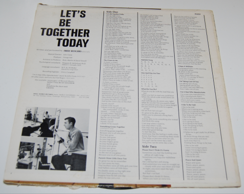 Mr rogers let's be together today vinyl lp