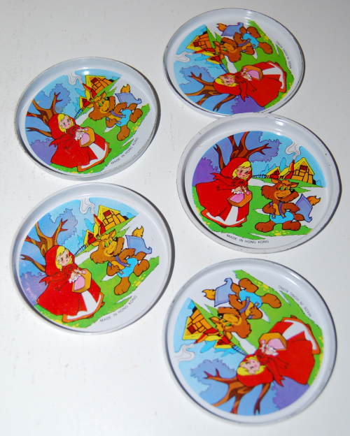 Little red riding hood tin teacups 2