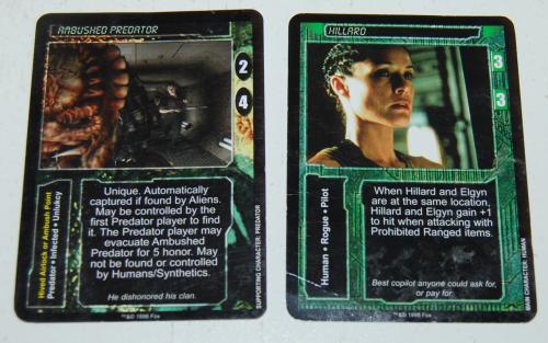 Aliens predator cards x