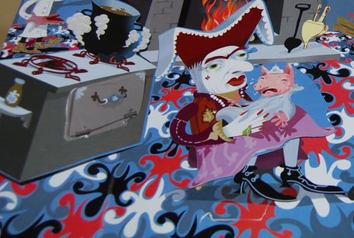 Alice in wonderland popup book 8