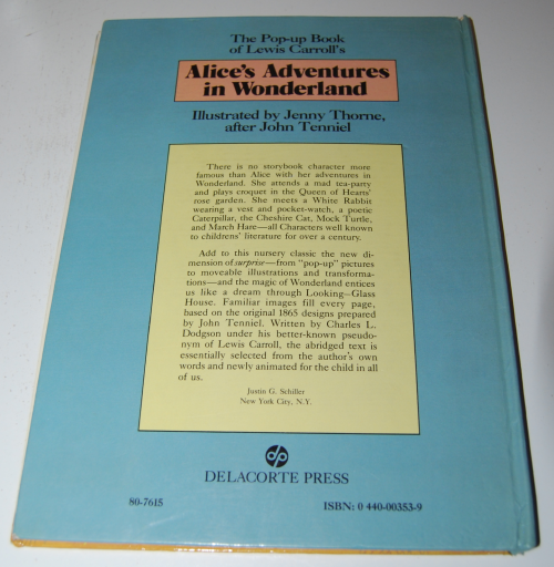 Alice popup book x
