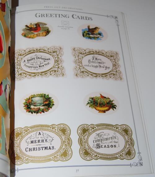 Victorian christmas pressout book 5