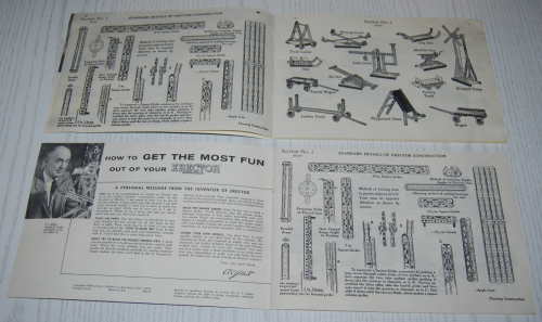 Vintage erector set booklet 1