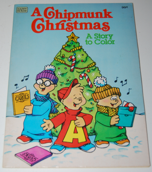 A chipmunk xmas coloring book
