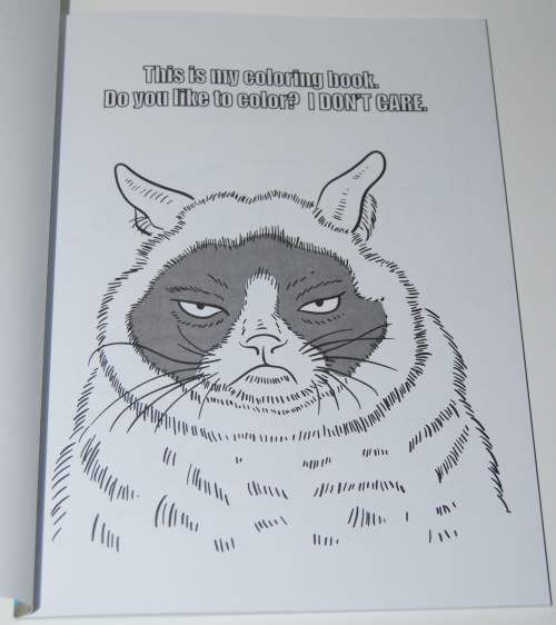 Grumpy cat coloring book 1