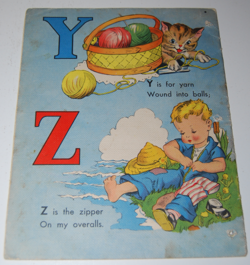 Vintage whitman abc book x