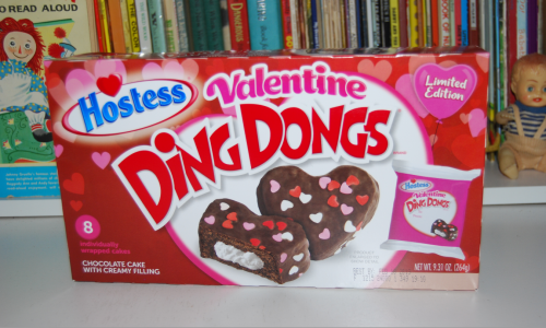 Hostess valentines ding dongs