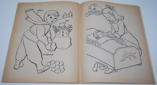 Vintage merrill coloring book 4