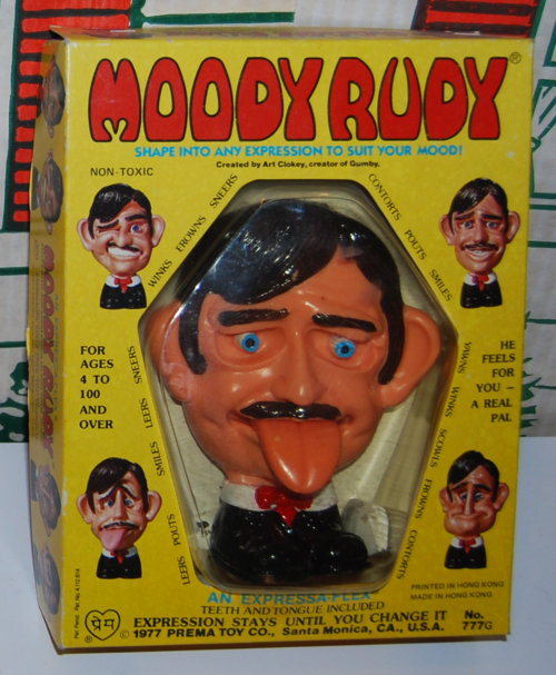 Moody rudy gumby toy