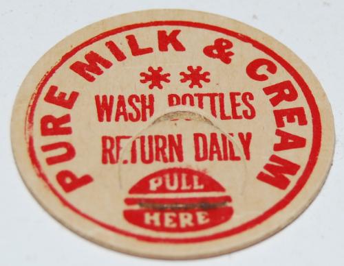 Vintage milk cap