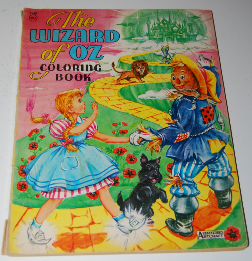 Wizard of oz coloring book saalfield