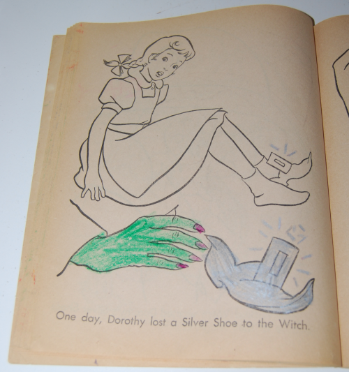 Wizard of oz coloring book saalfield 5