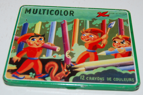 Multicolor pencil tin france