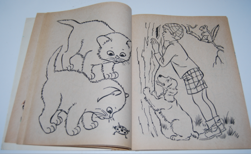 Whitman dogs & cats a coloring book 3
