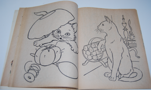 Whitman dogs & cats a coloring book 4