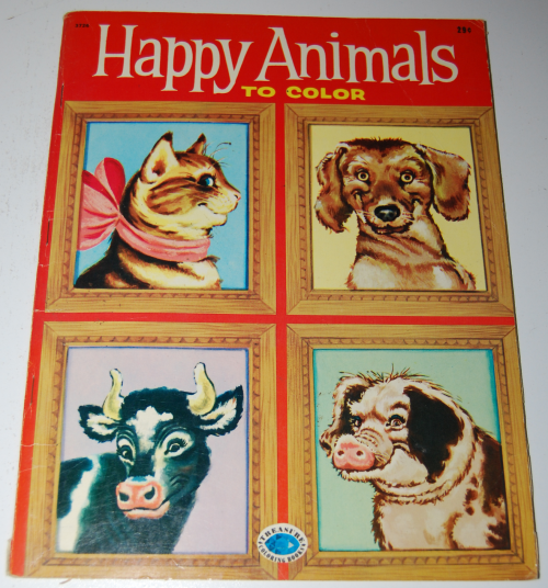 Happy animals to color