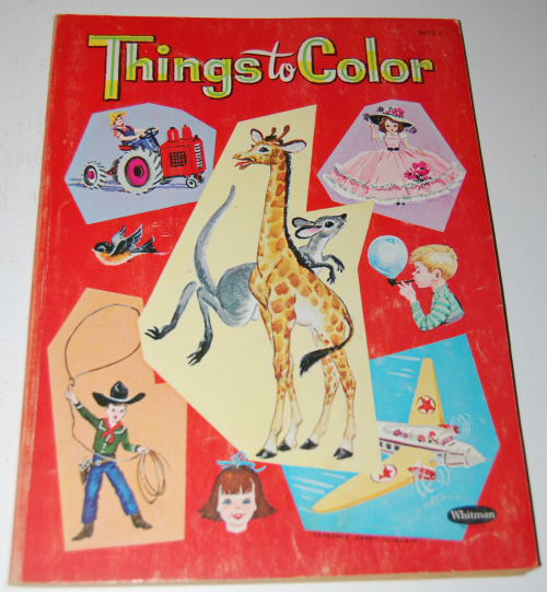 Vintage whitman things to color book
