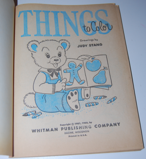 Vintage whitman things to color book x