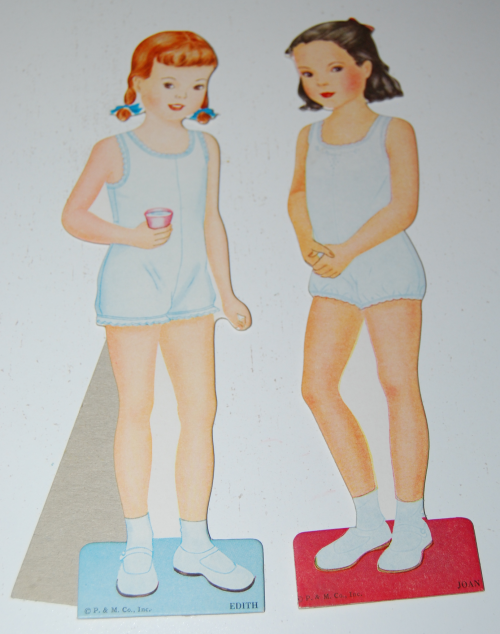 Vintage paper doll toys party dolls 2