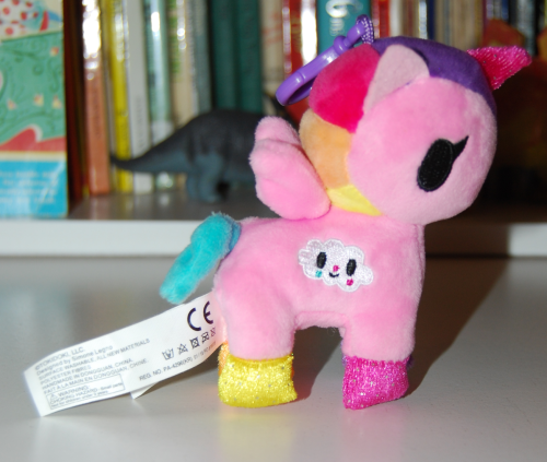 Neon star unicorn plush key clip x
