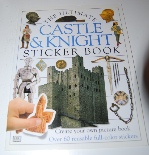 Castle & knight sticker book